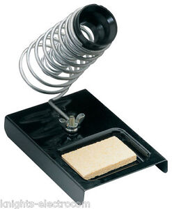 METAL-SOLDERING-IRON-STAND-WITH-TIP-CLEANING-SPONGE-bench-top-holder