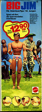 Big Jim--Die Abenteuerfigur für Jungen-Josh,Jeff,Jack -Mattel--Werbung von 1975-