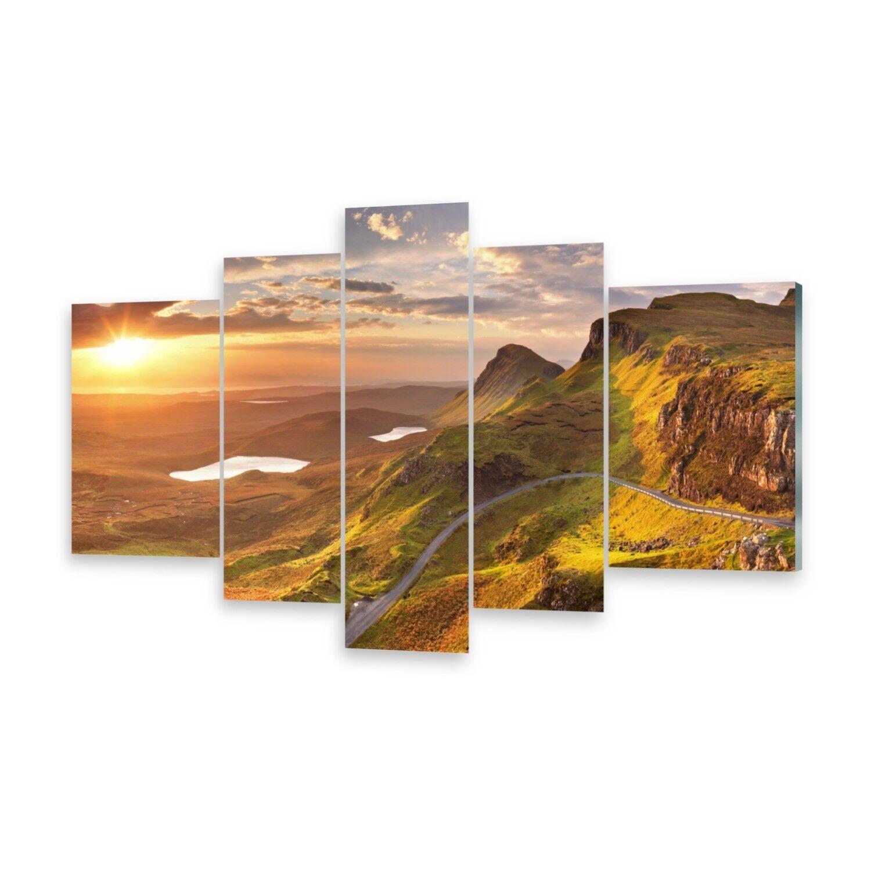 Mehrteilige Bilder Glasbilder Wandbild Sonnenaufgang Berge