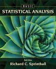 Basic Statistical Analysis by Richard C. Sprinthall (Hardback, 2011)