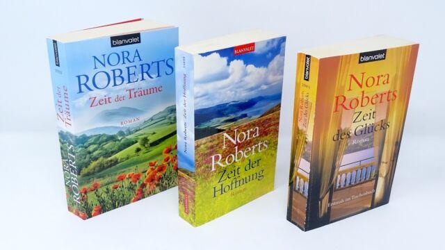 NORA ROBERTS Zeit Trilogie  Zeit der Träume  der Hoffnung  des Glücks  3 x BUCH