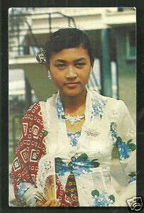 indonesian java girl beauty jewels costume suriname 1966
