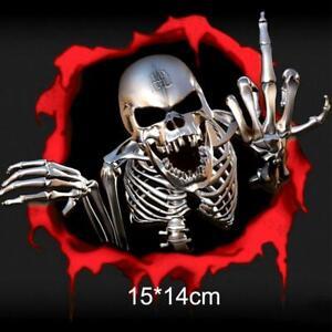 3D-Metal-Skeleton-Skull-Car-Motorcycle-Side-Trunk-Emblem-Badge-Decal-Sticker-Fav