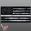 "Thin SILVER Line Flag Sticker /""GRUNGE/"" Corrections USA Vinyl Decal Lives Matter"