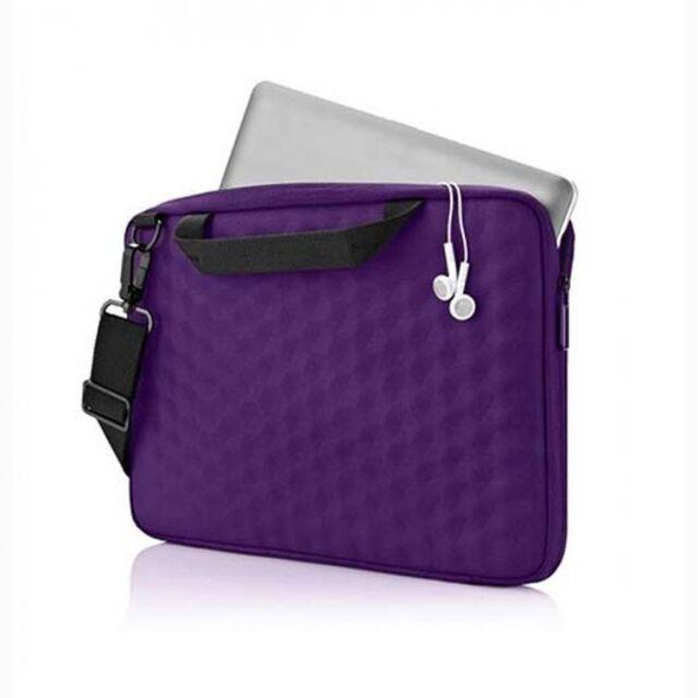 "Belkin 10.2"" Honeycomb Slip Clamshell Carry Bag Case for Apple Asus HP Purple"