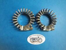 TRIUMPH STAINLESS STEEL FINNED EXHAUST CLAMPS E 4501  5T 6T T110 TR6 T120