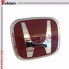 For 06-15 Honda Civic Sedan 4 Door JDM Red H Front Grille Emblem Badge FD FB FG