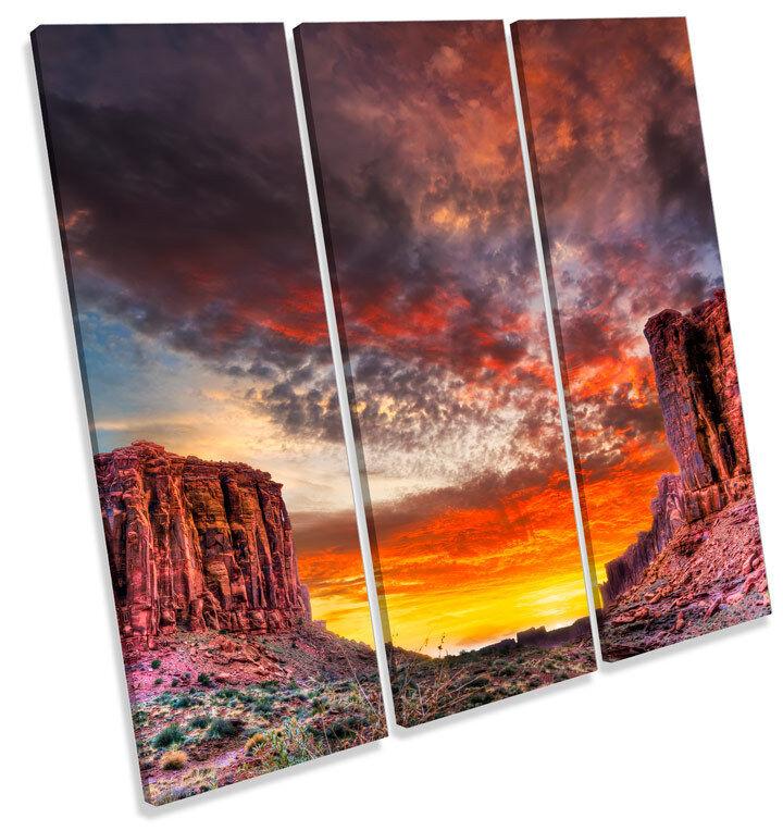 Utah Parque Nacional Arches TREBLE paisaje TREBLE Arches LONA pared arte Foto impresión Cuadrado 7c505a