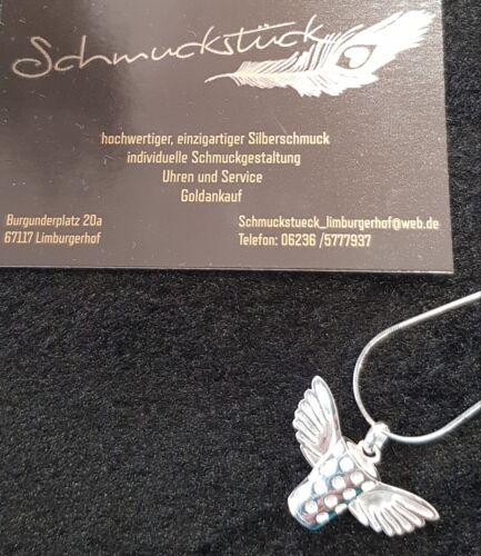 NEU Kette mit Dubbeglas Flügel aus 925er Silber Dubbeglas Schmuck