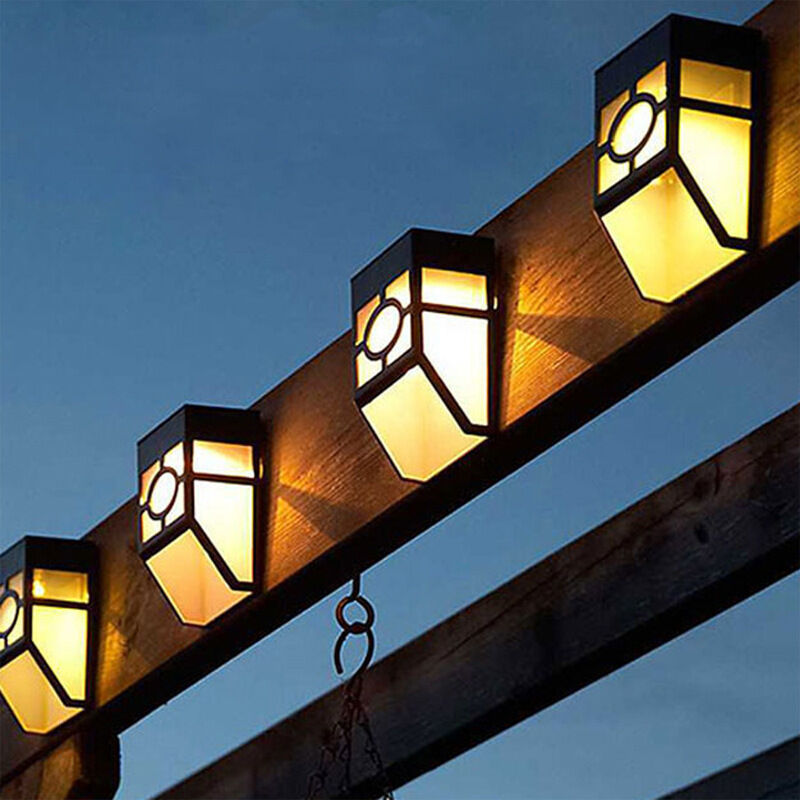 Solar Powered Wall Mount Led Outdoor Garden Light For