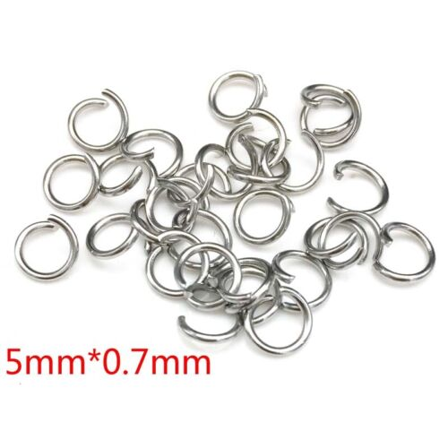 100PCS  3.5MM-6MM DIY Making Jewelry Findings Stainless Steel Jump Rings Silver