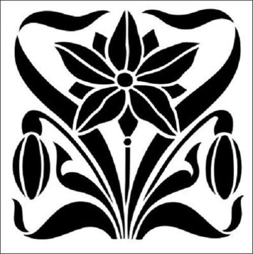 Plantilla de mosaico floral-A4//A5
