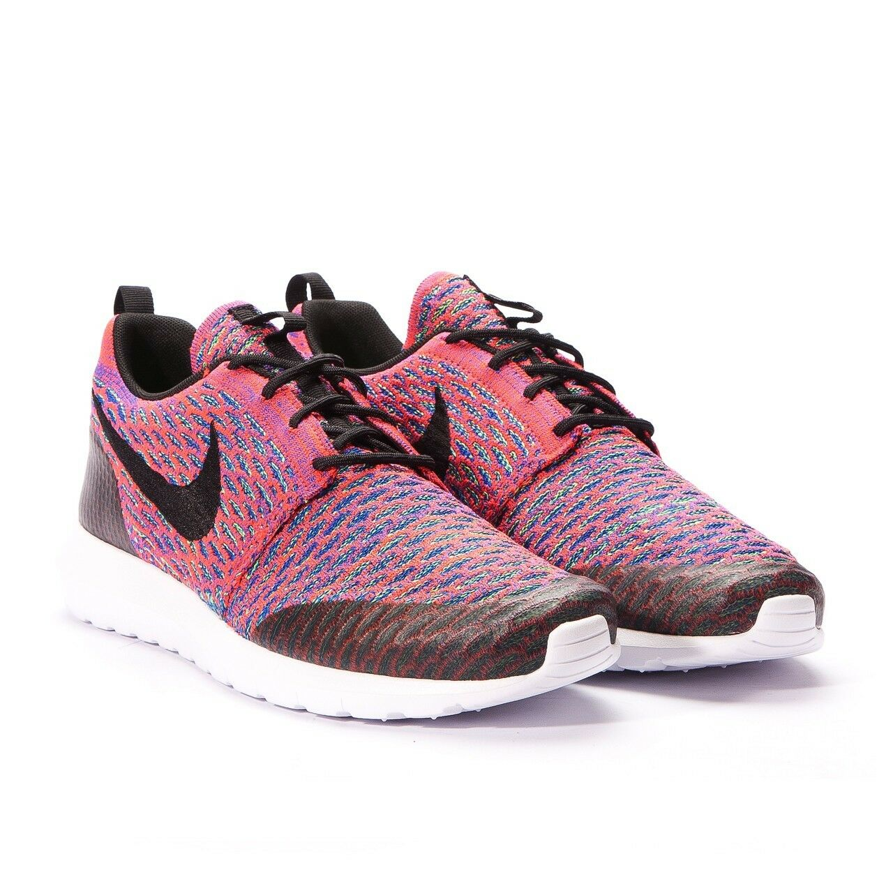 New Nike Roshe NM Flyknit SE Sneaker Size 10.5 Pink Green Black Blue White