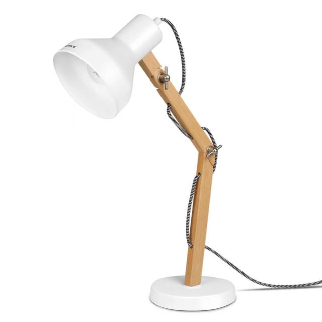 Tomons Wood Adjustable Head Desk Lamp Designer Table Lamp Reading Lights Study