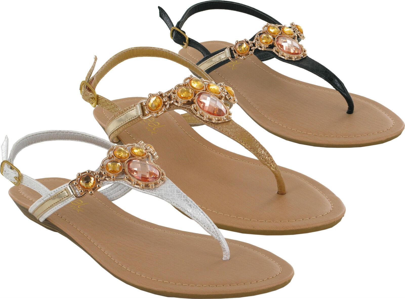 LADIES BACK BUCKLE DIAMOND FLAT MULE SUMMER 3-8 BEACH SANDALS UK SIZES 3-8 SUMMER d3003f