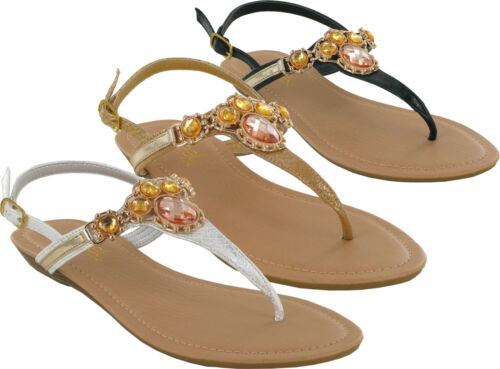 LADIES BACK BUCKLE DIAMOND FLAT MULE SUMMER BEACH SANDALS UK SIZES 3-8