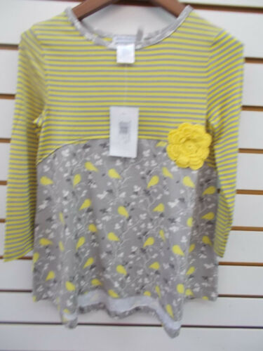Toddler Girls Tara Collection 2pc Gray /& Yellow Birds Set Size 2-4T//4