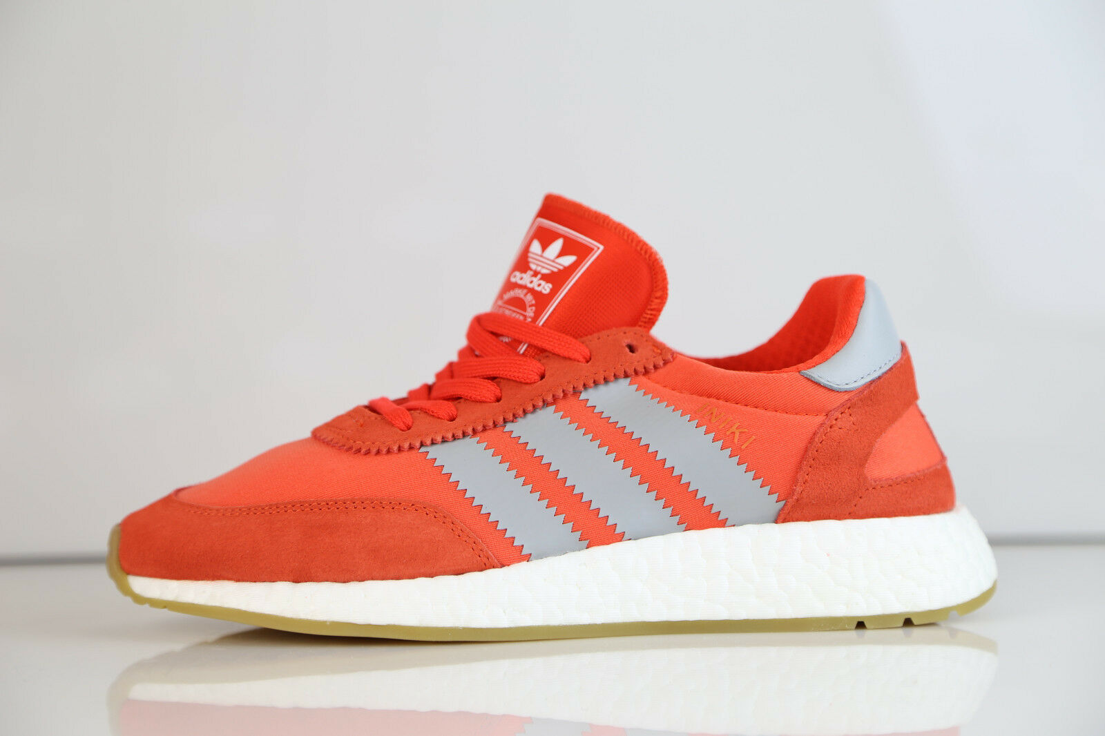 Adidas Originals Donna Iniki Runner W Energy Red Orange Gum BA9998 6-10 boost