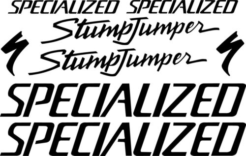 Specialized Stump Jumper Decals//Stickers Set Gloss Black