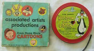 VINTAGE-Home-Movie-Cartoons-HOP-LOOK-amp-LISTEN-8MM-Associated-Artist-Warner-Bros
