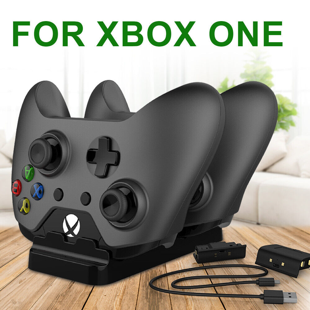 2USB Rechargeable Battery Dual Controller Charger Compatible With XBOX ONE Dock