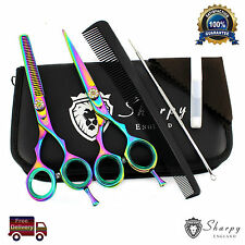 Professional Barber Hairdressing Scissors Hair Cutting Thinning Shear Set 5.5''
