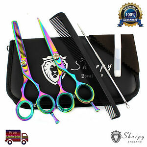 Professional-Barber-Hairdressing-Scissors-Hair-Cutting-Thinning-Shear-Set-6-039-039