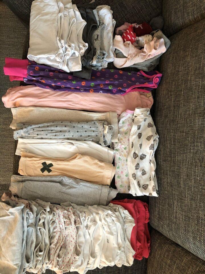 Blandet tøj, Pige pakke str 74, H&M og småfolk