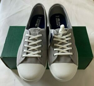 Lacoste-Zaine-LCR2-SPW-sneakers-for-WOMENS-Gray-Blue-Size-10-New-With-Box