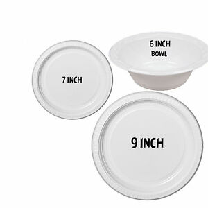 Image is loading STRONG-PLASTIC-PLATES-DISPOSABLE-100-500-BOWLS-LARGE-  sc 1 st  eBay & STRONG PLASTIC PLATES DISPOSABLE 100 - 500 BOWLS LARGE SMALL 23 9 18 ...