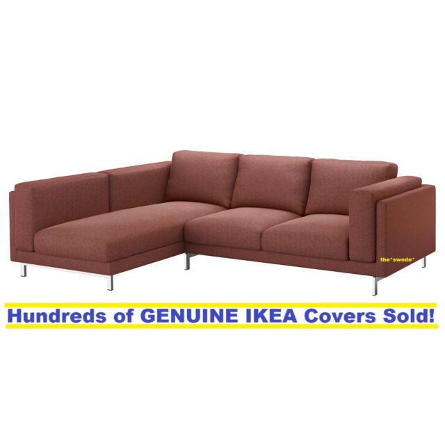 Fabulous Ikea Nockeby Sofa With Chaise Left Cover Slipcover Tallmyra Rust Ocoug Best Dining Table And Chair Ideas Images Ocougorg