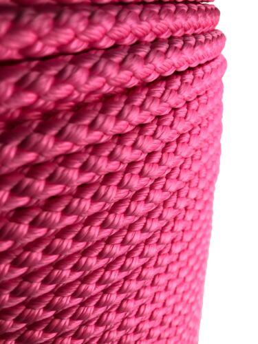 10 mm Rose Tressé Polypropylène Corde x 20 mètres Paracord Cordon De Camping