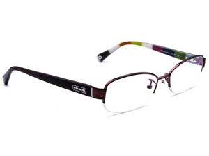 de69d0932e6a Coach Women's Eyeglasses HC 5004 Bettie 9032 Purple Half Rim Frame ...