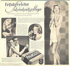 WERBUNG 1939, Palmolive Seife, Reklame, Kosmetik, alte Werbeanzeige /B