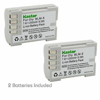 2x Kastar Battery For Olympus Blm-5 Ps-blm5 C-5060 C-7070 C-8080 E-1 E-500 E-510