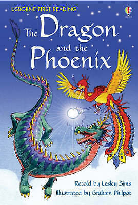 1 of 1 - NEW USBORNE First Reading ( LEVEL TWO ) the DRAGON and the PHOENIX paperback 2