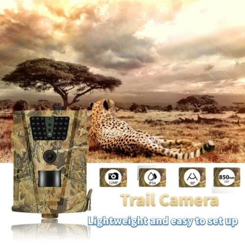 Trail Camera 12MP1080P Infrared  night vision Hunting Camera IP65 Waterproof cam