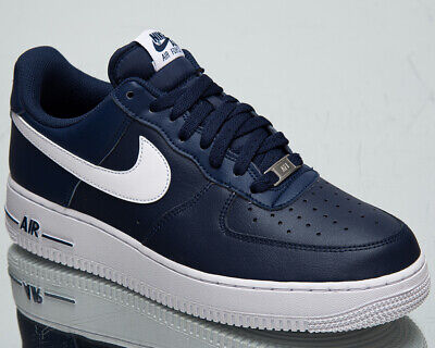 Nike Air Force 1 '07 AN20 Men's Midnight Navy White Low Lifestyle Sneakers  Shoes | eBay