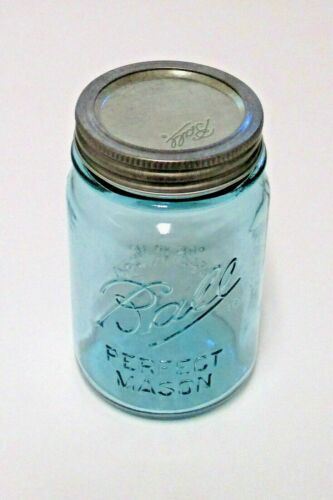 "Ball Collector/'s Edition AQUA Vintage Mason Canning Jar /""PINT/"" Reg Size NEW"