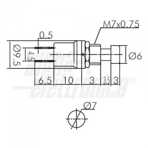2pz INTERRUTTORE PULSANTE NORMALMENTE CHIUSO 125V 1A NERO SH502N