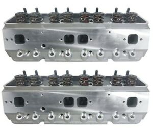 Precision-Race-Cylinder-Heads-Small-Block-Chevy-w-600-Lift-Springs-SBC-350-383