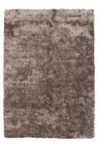 Hochflor Teppich Shaggy Modern Teppiche Flauschig Beige Braun Taupe