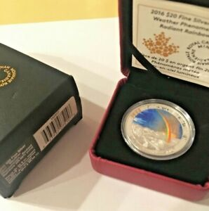 2016-20-Weather-Phenomenon-Radiant-Rainbow-1-oz-Silver-Coin-w-Box-amp-COA