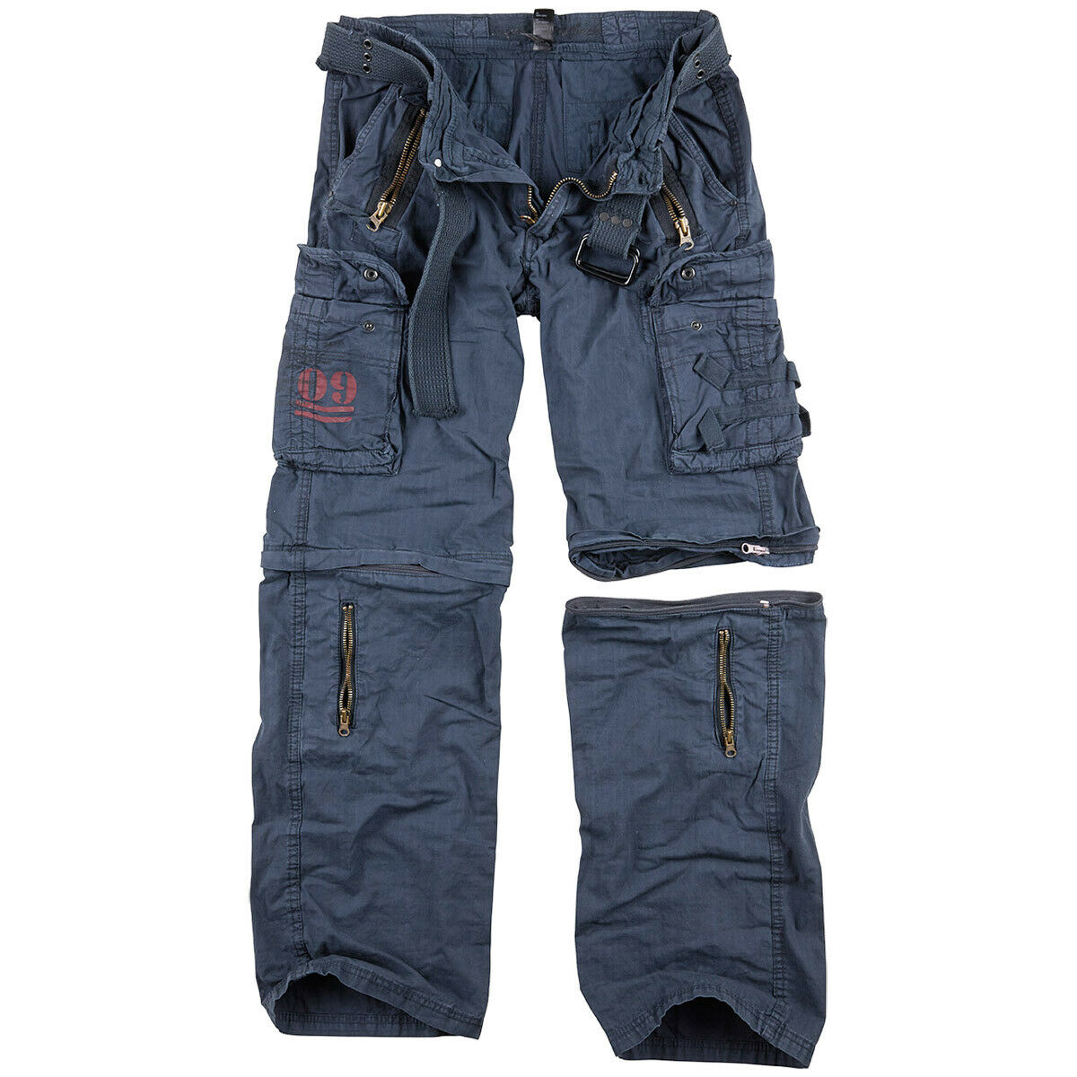Surplus Royal Outback Zip Off Trouses Army mannens Combat Pants Royal blauw
