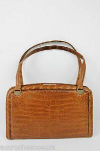 Tbe Lancel Fauve Vintage Sac Croco Paris w1q5FXnvx