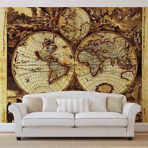 Wall mural photo wallpaper xxl world map vintage 571ws ebay la imagen se est cargando mural de pared foto wallpaper xxl mapamundi vintage gumiabroncs Image collections