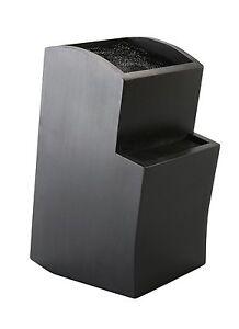 messerblock universal gestuft messerhalter aus holz mit borsteneinsatz schwarz. Black Bedroom Furniture Sets. Home Design Ideas
