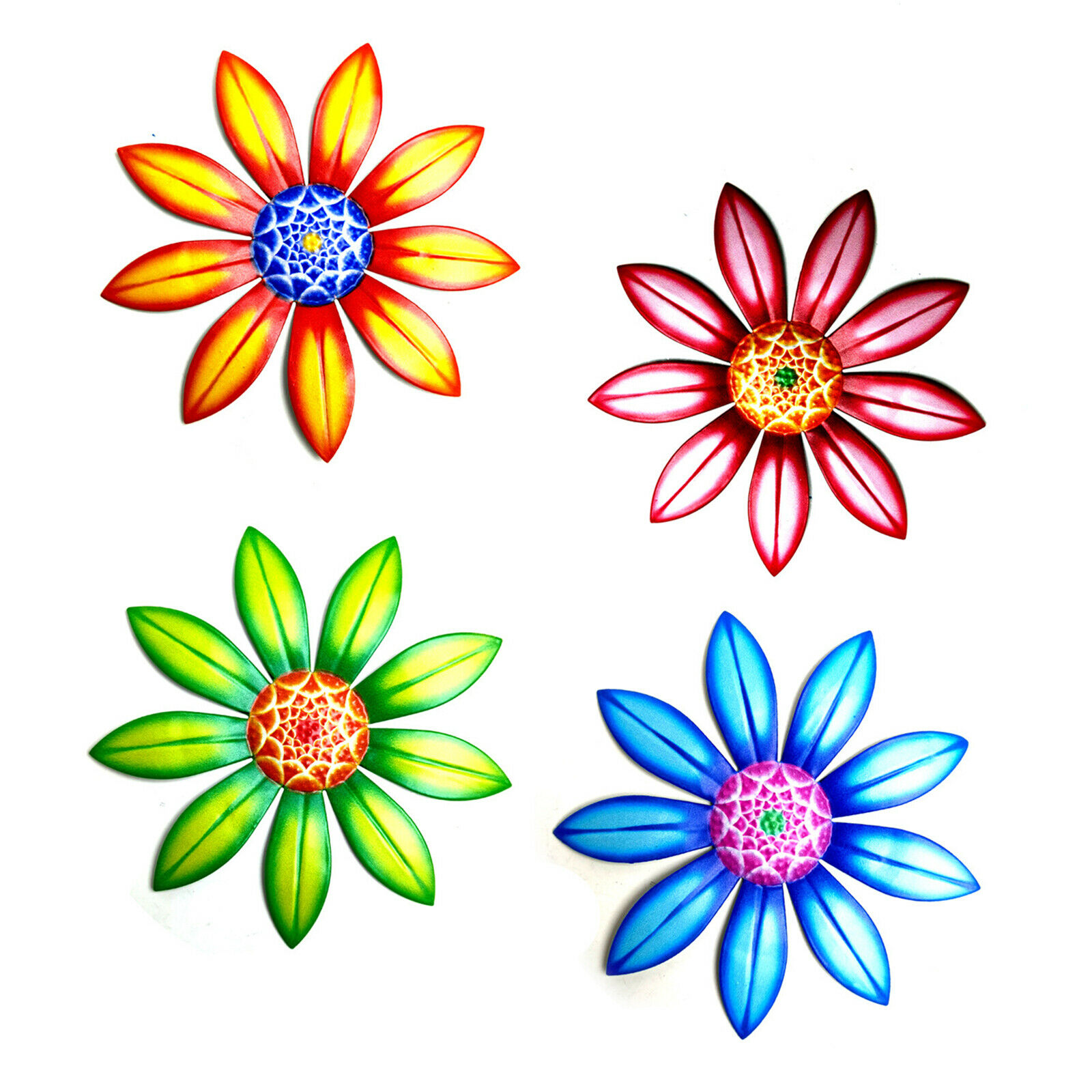 Garden Pinwheels Wall Decoration Non-toxic 17*17*3cm Wind Spinners Outdoor Metal
