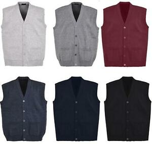 New-Men-Knitted-Waistcoat-Plus-Sizes-3XL-to-6XL-Kniited-Sleeveless-Cardigan
