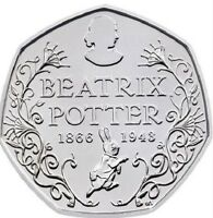 2016 50P COIN BEATRIX POTTER 150 YRS RARE FIFTY PENCE BRILLIANTLY UNCIRCULATED £